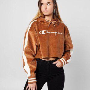 🆕 Champion Cropped Corduroy Sweatshirt Hoodie